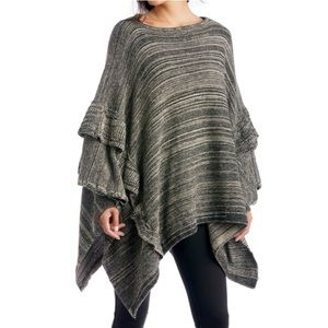 New Sole Society ruffle trim knit poncho